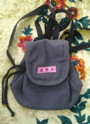 Маленький рюкзачок для девочки.