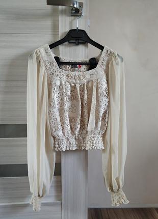 Шикарная блуза, бежевая блуза.