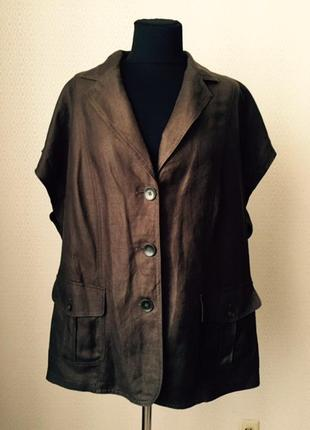 Блуза жакет без рукавов большого размера (нем 48, укр 54-56) от samoon