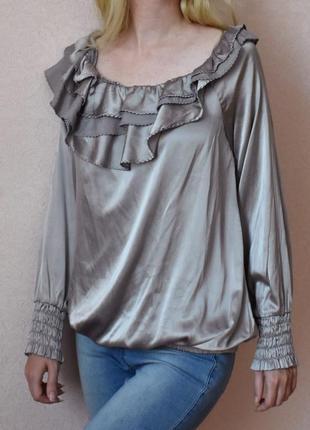 L - vip – patrizia pepe! люксовая шелковая блузка, серийный номер – новая