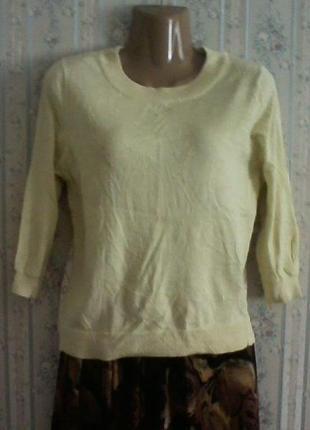 Нарядная блуза свитерок с шелковым кружевом, разм 44 наш