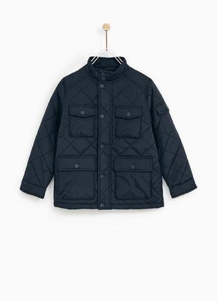 Стеганая курточка zara. размер 6,8,10 лет