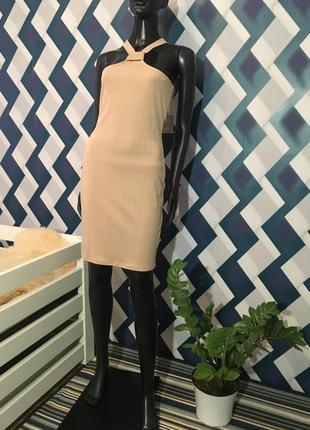 Не реальное платье в рубчик от missguided