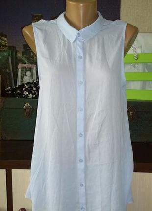Удлиненная блузка рубашка кофточка безрукавка h&m