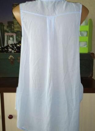 Удлиненная блузка рубашка кофточка безрукавка h&m2 фото