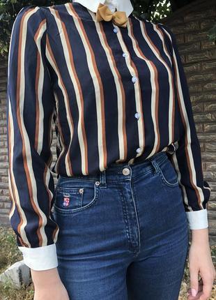 Милая блуза в полосочку с бабочкой от asos