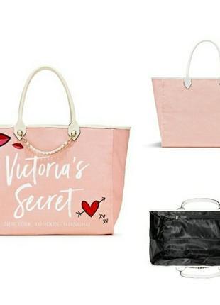 Оригинал пляжная сумка большая шоппер victorias secret виктория сикрет