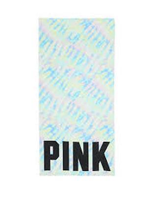 Victorias secret пляжное полотенце плед pink victoria secret виктория сикрет