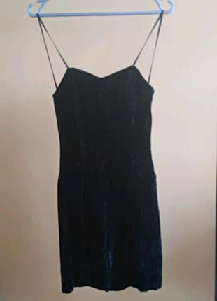 Шикарное велюровое коктейльное платье