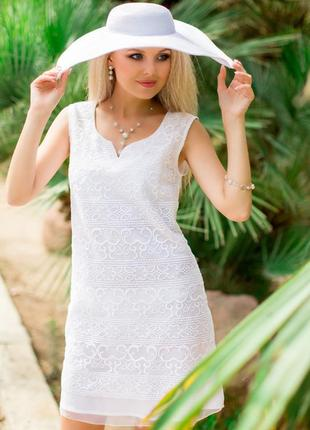 Шикарное белое платье тм fresh cotton новая коллекция 2018