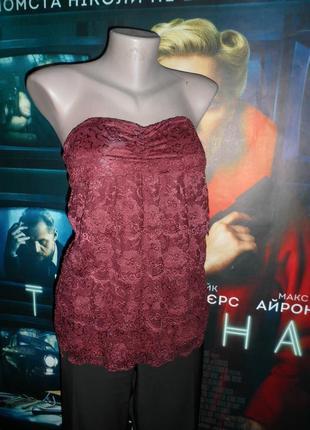 Кружевная блуза бюстье
