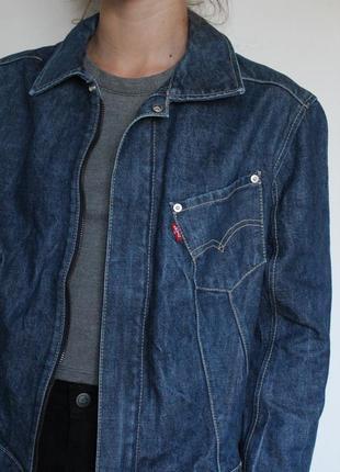 Levis женская джинсовая куртка на замке