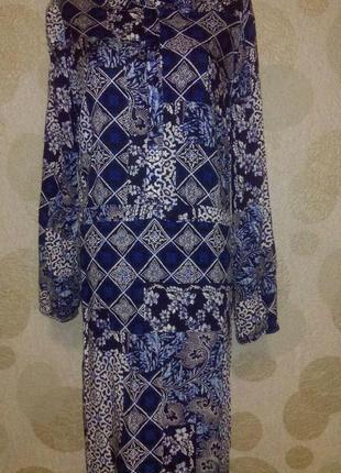 Платье рубашка,халат из  натуральной ткани