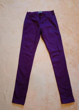 Світло бордові джинси/12-13років/110грн
