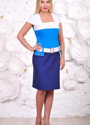 Платье льняное - отличная посадка! акционная цена! большие размеры
