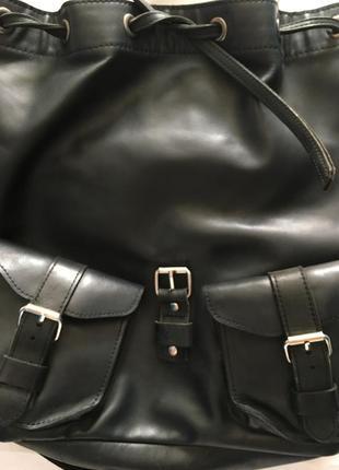 Кожаный рюкзак/ ручная работа