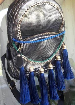Супер стильный рюкзак/портфель сумка кисти цепи бесплатная доставка