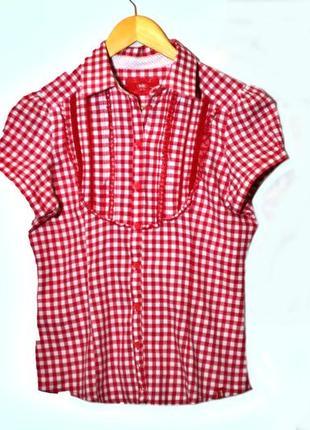 Яркая модная рубашка в клетку ,  esprit  s размер