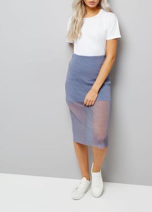 Нереально красивая юбка миди сеточка, карандаш, по фигуре