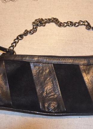 Стильна кожаная сумочка-клатч minelli