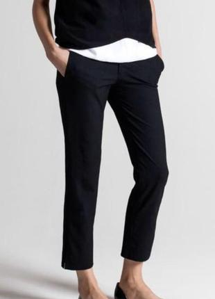 Zara базовые укороченные брюки л-хл