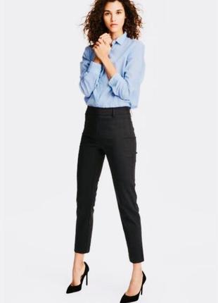 H&m базовые укороченные брюки слаксы размер с-м