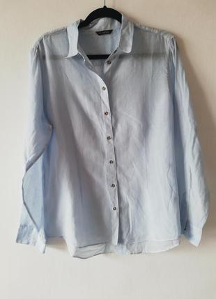 Тонкая рубашка котон+шелк