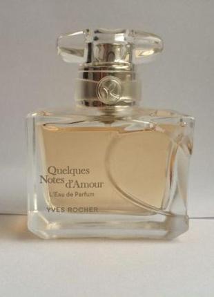 Quelques notes d'amour: yves rocher парфюмированная вода  несколько нот любви