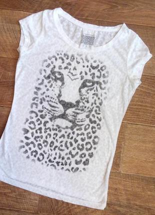 Біла футболка з тигровим принтом 038b57efe7da5