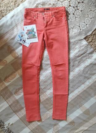 Терракотовые джинсы odji