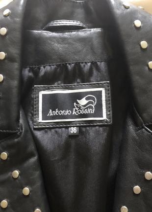 Натуральная кожаная куртка не кожзам новая! antonio rossini5