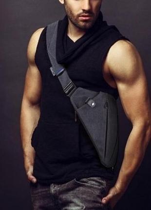 Мужская сумка через плече мессенджер cross body (кросс боди)1 фото
