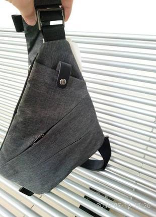 Мужская сумка через плече мессенджер cross body (кросс боди)3 фото