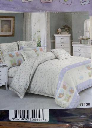 Постельное белье в кроватку для новорожденного тм вилюта, постель, хлопок