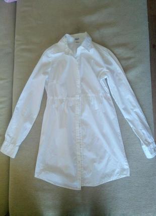 Белая блузка 100% котон!