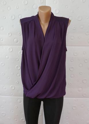 Шикарная блуза фиолетовая tu