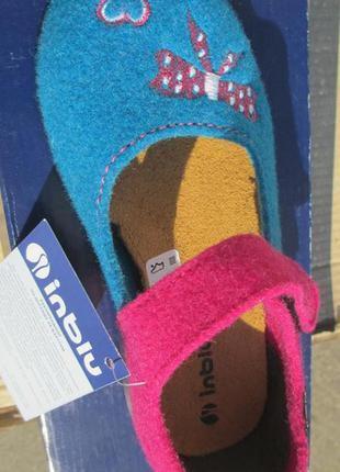 Тапки детские, тапочки, домашняя обувь inblu