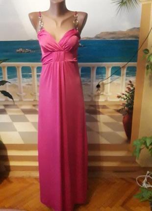 Красиве рожеве плаття в маленький горох!