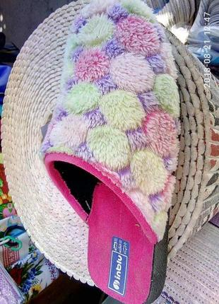 Разноцветные тапки, тапочки  inblu.