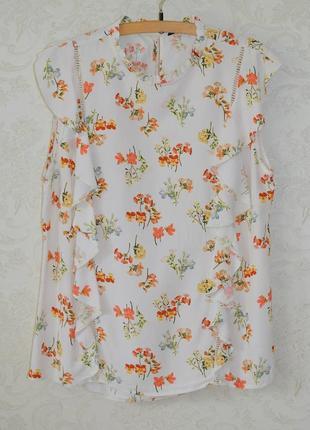 Стильная блуза с цветочками  р 14