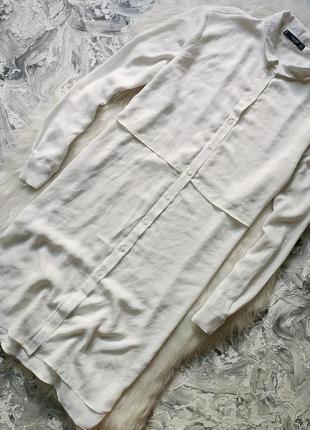 Скидка до 26.09 платье комбинация свободного кроя до колен/ шифоновая удлиненная рубашка