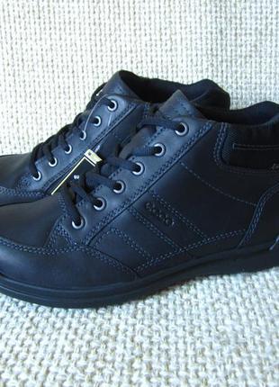 Черевики шкіряні чорні ecco оригінал розмір 40