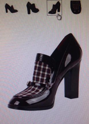 Стильные лакированные туфли с твидовым текстилем antonio biaggi p.34-35