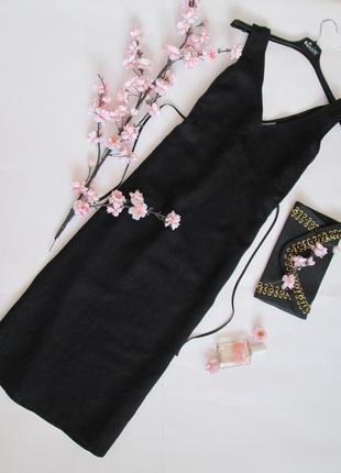 Laura clement /эксклюзивное ленное платье сарафан миди 100% лен
