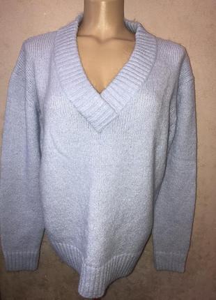 New look/l/xl/акрил/мохер/шикарный/свитер/с вырезом