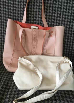 2 сумки по цене одной! сумка шоппер  и  маленькая  две в одной