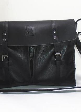 Мужская сумка-планшет из экокожи