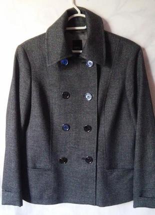 Шерстяной двубортный жакет, пиджак 14-16р. esprit