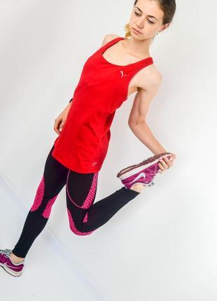 Puma красная спортивная майка для активного образа жизни и занятий спортом
