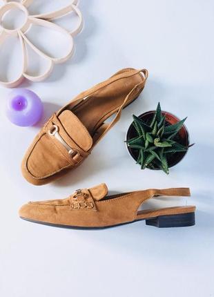 Стильные туфли мюли под замшу с открытой пяткой от next